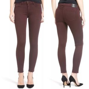 Joes jeans maroon the icon mid rise  skinny jeans